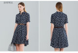Fashion Floral Printed Matures Woman Dress for Summer