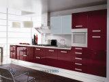 Wooden Furnitureのための赤いMDF Kitchen Cabinet (カスタマイズされる)