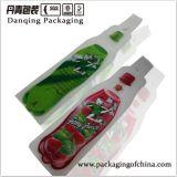Flaschen-Form-entzückender Plastikeinspritzung-Beutel, Getränkeverpackenbeutel