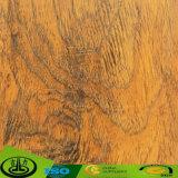 Papel decorativo da melamina de madeira da grão com material não tóxico da impressão