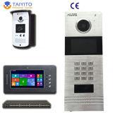 SIP fechamento de porta eletrônico do telefone da porta do vídeo de cor de 7 polegadas para o edifício