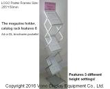 展示会の携帯用文献の立場の表示パンフレットの立場