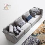 O sofá simples moderno da tela do estilo ajustou-se com otomano (1609)