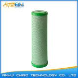 Acid-Washed Cocunut 쉘 탄소 구획 필터 10 인치 녹색