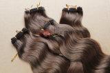 Menschliche natürliche Farben-volles Häutchen-Haar-Karosserien-wellenförmiges Haar-Spinnen