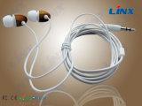 Écouteurs de câble par Earbuds en bois en bois de câble des matériaux PVC/TPE de qualité