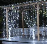 Vacances extérieures de lumière de glaçon de rideau en chaîne de caractères de décoration de Noël de DEL