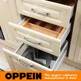 Armario de madera de la cocina del PVC lustre euro de la L-Dimensión de una variable de Oppein del alto (OP15-052)