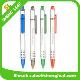 Stylo bille multicolore de logo fait sur commande annonçant le crayon lecteur de bille en plastique (SLF-PP001)