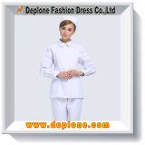 Blancos uniformes de enfermería vestido al por mayor (HU101)