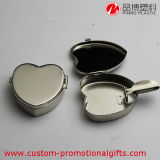Cuore Shape Pocket Metal Aluminum Cigarette Ashtray con Cover