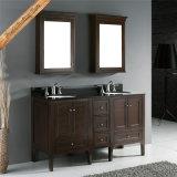 72インチの二重流しの洗面器の純木の浴室の虚栄心