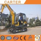 Excavador hidráulico de múltiples funciones caliente de la retroexcavadora de la correa eslabonada de Salesct45-8b (4.5t)