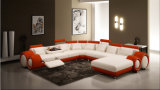Leather ad alta densità Sectional Corner Sofa con U Shape