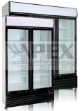 Schieben doppelte Tür-der aufrechten Getränkekühlvorrichtung mit Cer/CB/RoHS/ETL/Saso