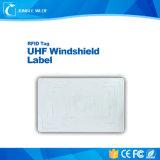 Etiqueta modificada para requisitos particulares precio barato del parabrisas de la frecuencia ultraelevada de RFID para la gerencia del estacionamiento