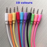 """색깔 패치는 3.5mm 단청 """" 오디오 연결 케이블 1/8 케이블을 단다"""
