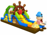 Kids를 위한 2016 싼 Pirate Inflatable Obstacle Course Playground