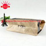 Poche de empaquetage inférieure carrée pour la nourriture, casse-croûte