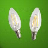 luz de bulbo de la vela del filamento de 4W LED