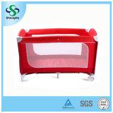 第2層(SH-A12)の熱い販売の赤ん坊旅行折畳み式ベッドの赤ん坊のまぐさ桶