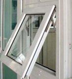 Het Gehangen Openslaand raam van de kroonslak PVC/UPVC Bovenkant