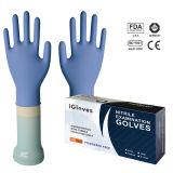 Chirurgischer Lieferanten-Typ u. medizinische Material-purpurrote Farben-Nitril-Handschuhe pulverisiert
