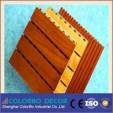 Som - painéis decorativos da parede acústica de madeira absorvente do MDF da madeira