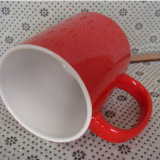 Tazza di ceramica rossa su ordinazione 2016 con il marchio stampato dell'azienda