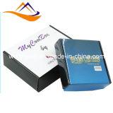 Rectángulo de regalo de papel que empaqueta, rectángulo de papel de la insignia de encargo