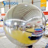 Espejo rojo decorativo inflable Mini Plata Oro bolas talladas inflable bola de espejo