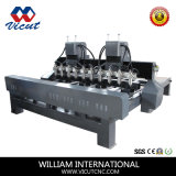 Rotary Axis (VCT-1518FR-4H)를 가진 Sale 최신 4 Spindles CNC Cutting Machine