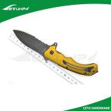 Нож напольного тактического боя складывая с черным лезвием окиси