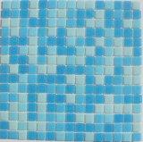 Mosaico de cristal del iridio para la piscina/la pared del cuarto de baño/de la cocina y el azulejo de piso 20X20m m