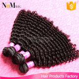 マレーシアのカーリーヘアーの織り方3束の安い織り方のオンライン天使の優美の毛の拡張