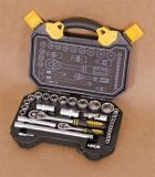 "직업적인 Hand Tools 32PCS 1/4 "" & 1/2 "" Drive Wrench Socket Set"