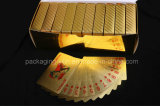 24k Gold Foil Plating Poker Plastic Playing Cards con Certificate