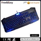 Populaire het Verlichte LEIDENE Backlit USB Getelegrafeerde Toetsenbord van het Gokken