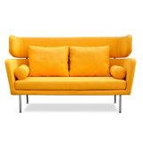 Da sala de visitas clássica do estilo do projeto moderno sofá macio da tela com pé do metal