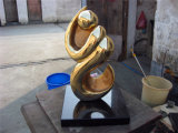 Sculpture en bronze en décoration de décoration d'art abstrait