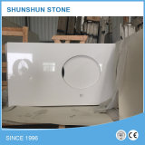 Stone artificiale White Quartz Counter Top per Kitchen