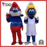 Traje adulto azul chinês da mascote do OEM Facotry Cartton