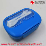 Portable extérieur Plastic Rectangle Bento Box avec Fork Spoon