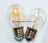 Luz do filamento do diodo emissor de luz de G45 E27 E14 a lâmpada