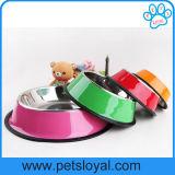 Cuvette de chien d'acier inoxydable de conducteur de produit d'animal familier de fabricant