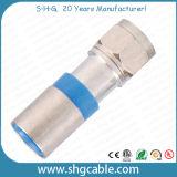 Conetor da compressão de F para o cabo coaxial Rg59 RG6 Rg11 do RF (F041)