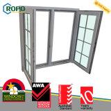 Конструкция решетки окна двойной застеклять Ropo UPVC пластичная самомоднейшая