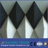 Panneaux de mur décoratifs ignifuges intérieurs de fibre de polyester