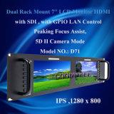 Monitor do LCD da montagem de cremalheira de 7 polegadas