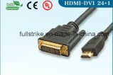 High Speed HDMI Male to DVI (24+1) Male Cable for HDTV